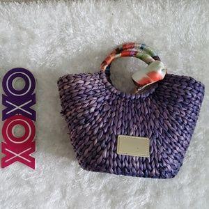 TED BAKER basket straw tote bag